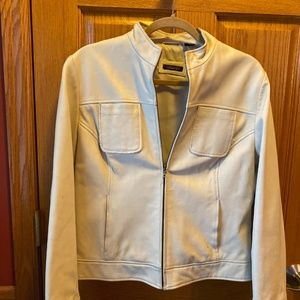 TAHARI 100% Genuine Leather Lined Jacket Size L